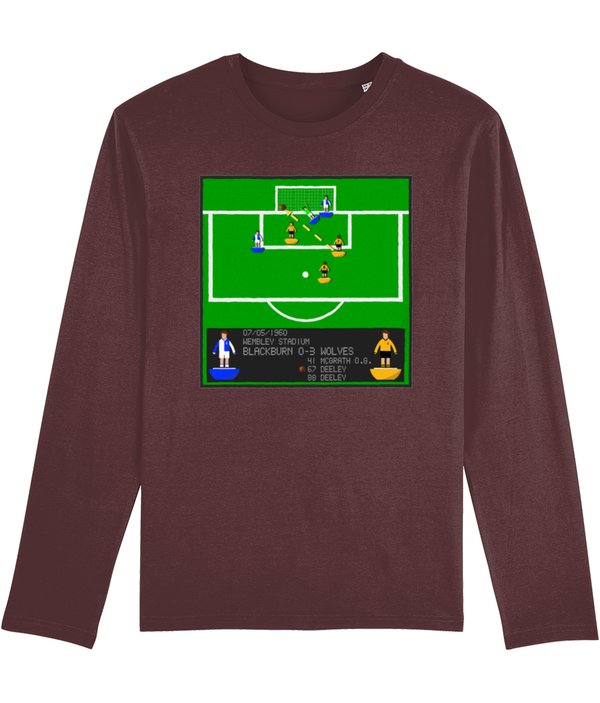 Football Iconic Moment 'Norman Deeley Blackburn Rovers v WOLVES 1960' Men's Long Sleeve