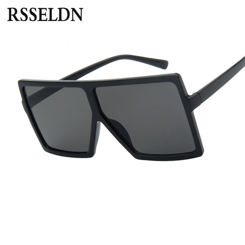 f826b8db40d61 RSSELDN Oversized Sunglasses Women Big Frame Square Sun Glasses Men Brand  Designer 2018 New Vintage Gradient