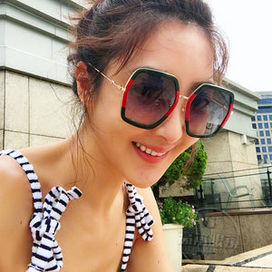 988110598ebba ROYAL GIRL Oversized Laidies Square Sunglasses Women 2018 Luxury Brand  Designer Big Frame Mirror Sun Glasses
