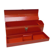 "Load image into Gallery viewer, 19"" TOP QUAL METAL TOOL BOX HIP ROOF  w/ METAL TRAY,  PRO SERIES"