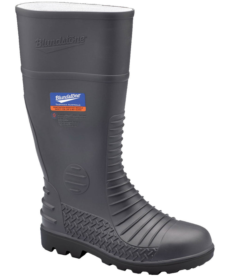 Blundstone Waterproof Safety Gumboot , Grey, Style 028