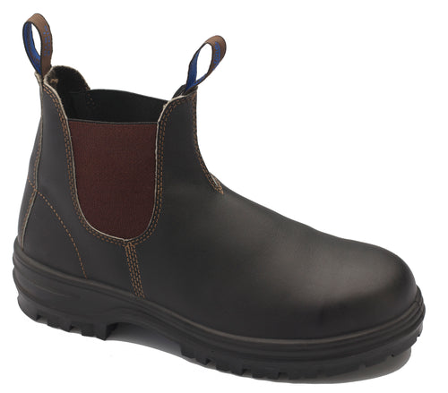 Blundstone CLASSIC SLIP-ON SAFETY BOOTS, Stout Brown, Style 140