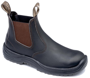 Blundstone PREMIUM OIL TANNED LEATHER WORK BOOTS, Stout Brown, Style 490