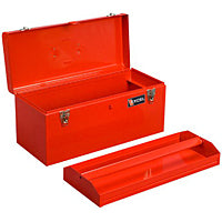 "Load image into Gallery viewer, 20"" METAL TOOL BOX W/ METAL TRAY, TQI PRO SERIES"