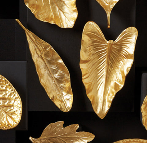 Large Brass Foliage Dishes