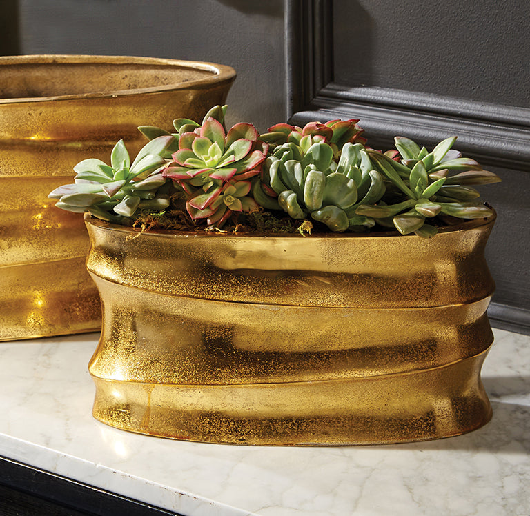 Golden Wave Planters
