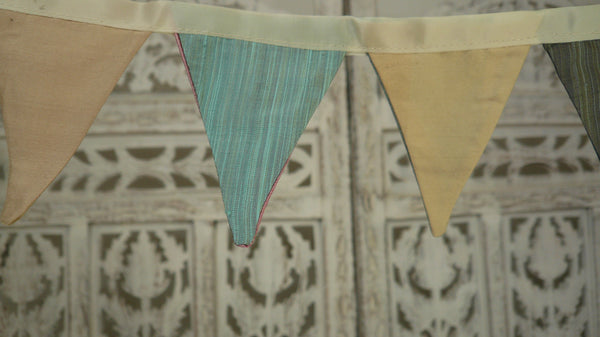 Multi Coloured Pure Silk Bunting