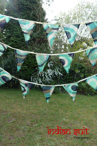 Vintage Cotton Printed Bunting - Approx 8.6 Metres - Indian Suit Company