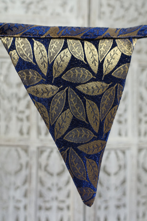 Navy & Gold Bunting - 6.1 Metres - Indian Suit Company