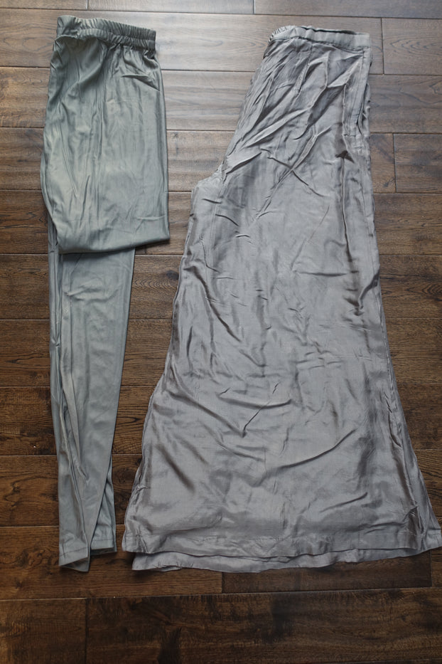 Grey 4Pc Indian Ghaghara - UK 18 / EU 44 - Preloved - Indian Suit Company