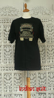 "Black ""art workshop 1469"" t-shirt with Indian ""Tata Public Carrier"" truck -Size x-large  – new"