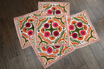Pack Of Five Embroidered Boho Cushion Covers