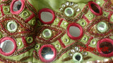 Green & pink mirrored lengha - UK Size 10 / EU Size 36 - Preloved