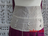Plum Coloured Pure Silk Chiffon Skirt - Fit Up To 34 Inch Waist - Preloved - Indian Suit Company
