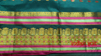 Teal & Purple Vintage Silk Sari - New