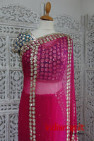 Pink & 2 Tone Silk Blouse Fit Bust 36½ Inch - Preloved - Indian Suit Company