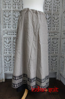 Stone & Black Cotton Block Printed Skirt - Free Size - New - Indian Suit Company