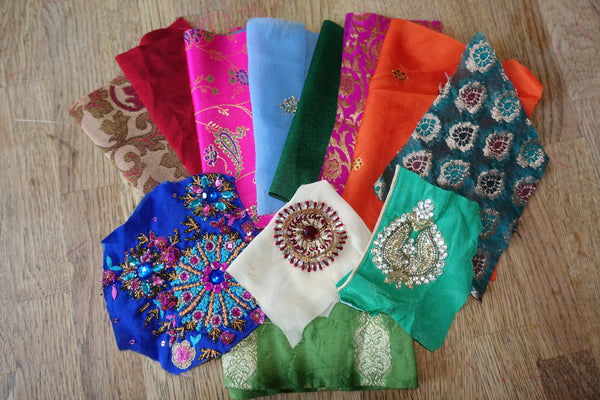 Mixed Pack 100Gms Of Fabric Swatches - Indian Suit Company