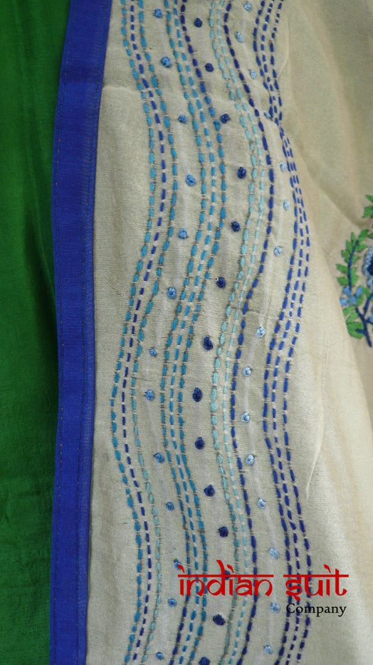 Green & Stone Salwar Kameez - UK 20 / EU 46 - Preloved - Indian Suit Company