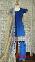 Royal Blue Salwar Kameez - UK Size 8 / EU 34 - New - Indian Suit Company