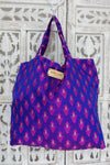 Bg16758 Pink & Purple Pure Banarsi Silk Bag    Wip    Wip - Indian Suit Company