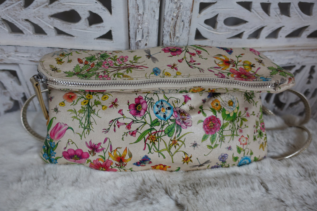 Pavers Floral Print Asymmetrical Bag _ Preloved - Indian Suit Company