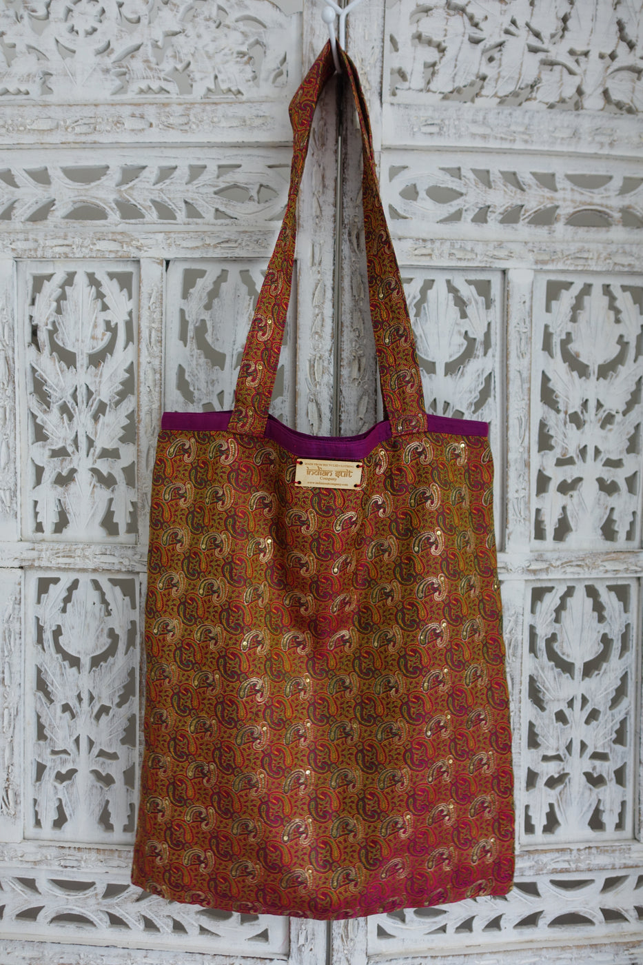 Vintage Paisley Bag Banarsi Brocade Tilla Bag - Indian Suit Company