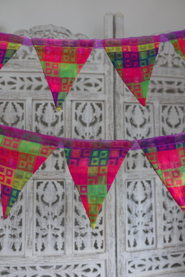 Multi-Coloured Bunting - 9 Metres - Indian Suit Company
