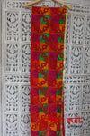 Red Cotton Traditional Phulkari Blanket  - New - Indian Suit Company