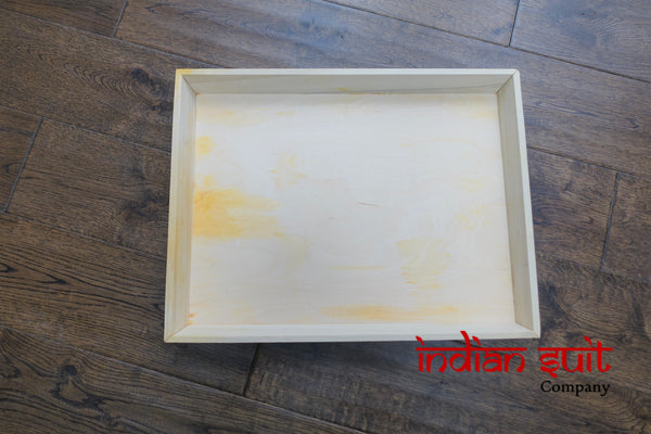 Box Of 8 Wooden Trays For Upcycling / Wedding - Indian Suit Company