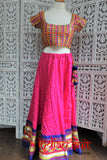 Navratri pink cotton 2pc BN choli lengha - UK Size 10/EU 36  - new