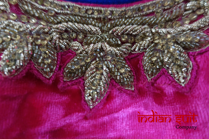 Pink, Yellow Bollywood Indian Choli Lengha - - UK 14 / EU 40  - Preloved - Indian Suit Company