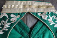 Green Long Gown & Chunni - UK 8 / EU 34  - Preloved - Indian Suit Company