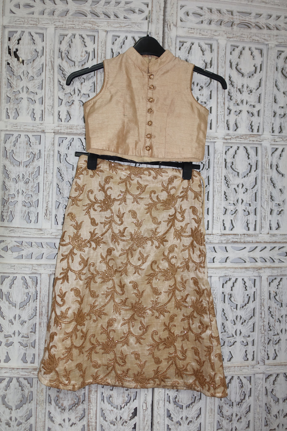 Gold Girls Lengha Size 28 - Preloved - Indian Suit Company