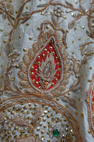 "Cream Vintage Wedding Lengha €"" Freesize €"" Preloved - Indian Suit Company"