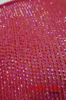 Vintage Raspberry Red American Georgette Sequinned Sari - New - Indian Suit Company