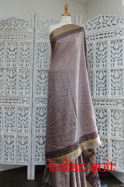Vintage Printed Silk Paisley Retro Sari - New - Indian Suit Company