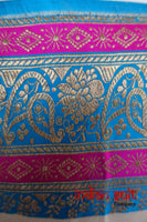 Cream Pure Silk Vintage Sari - New With Defects - Indian Suit Company