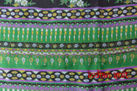 Green Silk Printed Indian Vintage Sari - Preloved - Indian Suit Company