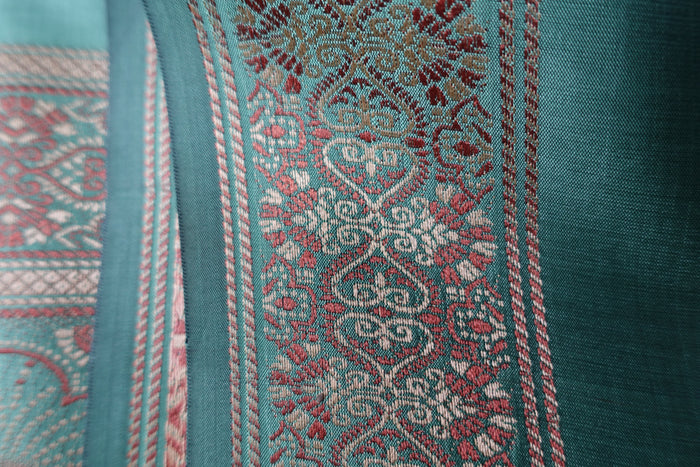 Sage Silk Blend Sari - New - Indian Suit Company