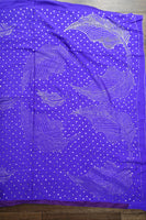 Purple Vintage Silk Mukesh Sari - Preloved - Indian Suit Company