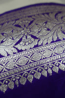 "Bright Purple Pure Silk Vintage Sari+ 35"" Blouse - Preloved - Indian Suit Company"