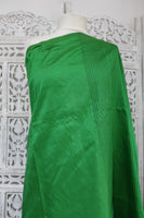 Green & Black Pure Silk Vintage Sari - Preloved - Indian Suit Company