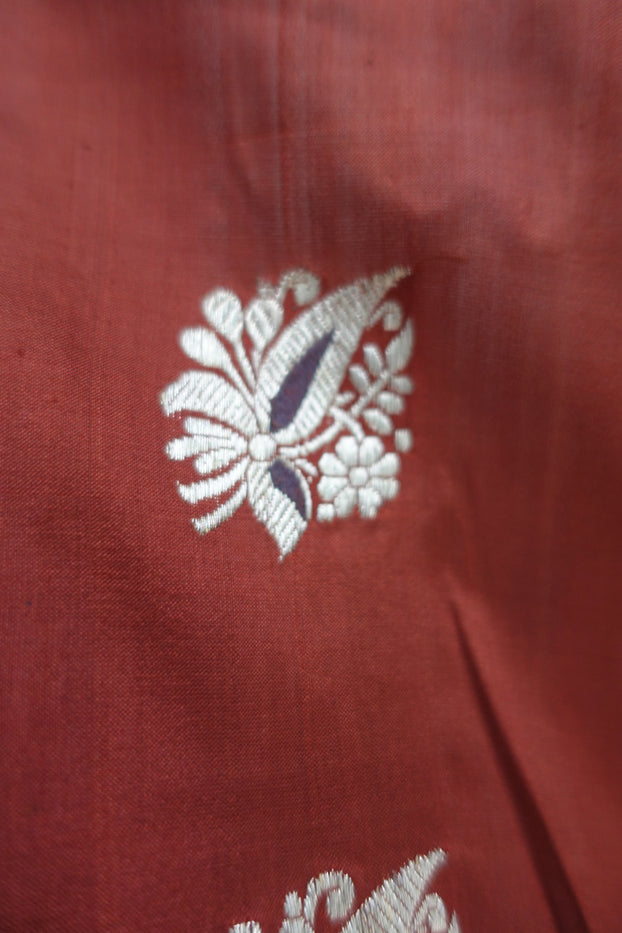 Gingerbread Brown Silk Vintage Sari New - Indian Suit Company