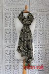 Black / White / Copper Indian Shawl - New - Indian Suit Company