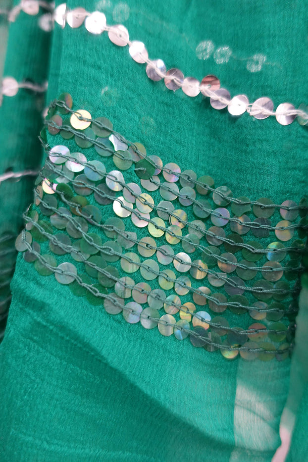 Emerald Green Vintage Scarf - New - Indian Suit Company