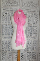 Pale Pink Self Sequinned Vintage scarf - New - Indian Suit Company