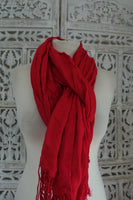 Raspberry Red Warm scarf - New - Indian Suit Company