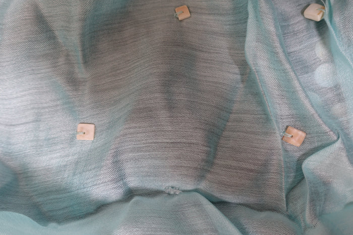 Soft Blue Silk Blend Scarf - New - Indian Suit Company