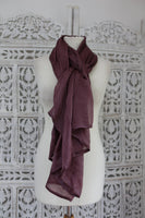 Chocolatey Brown Silk Shawl - New - Indian Suit Company